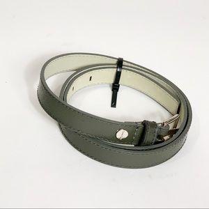 Calvin Klein Grey Patent Leather Skinny Belt